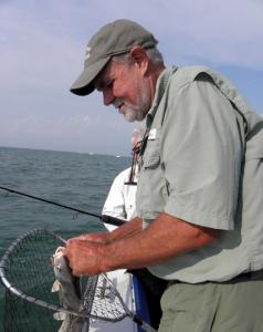 Lake Erie charter boat captain Steve Connor says algae blooms turn sport fishermen away (pic by Karen Schaefer)
