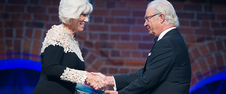 Professor Joan B. Rose received the 2016 Stockholm Water Prize on Wednesday