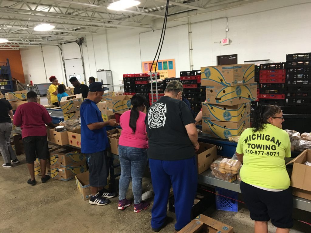 Food bank in Flint