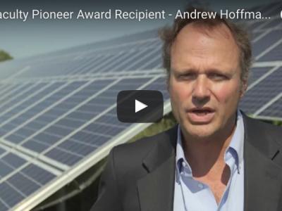 University of Michigan Erb Institute Erb Faculty Member Andy Hoffman Receives Aspen Institute Faculty Pioneer Award