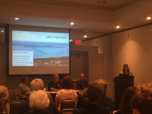 """""""This is the public trust issue of our times"""" Liz Kirkwood on state's duty to protect the water in the Mackinac Straits."""