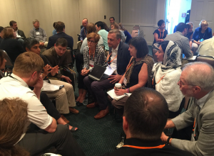 Discussion group during Algae Blooms: Collectively Creating Space for Solutions session.