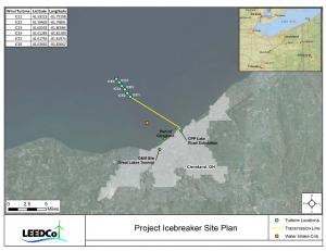 Map of Project Icebreaker Elizabeth Miller