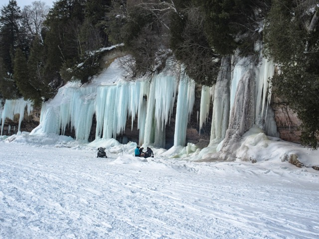 Ice Climbing - Grand Isle; Photo courtesy of Darryl Smith
