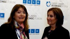 Great Lakes Bureau Chief, Mary Ellen Geist interviews Ohio Lt. Governor Mary Taylor