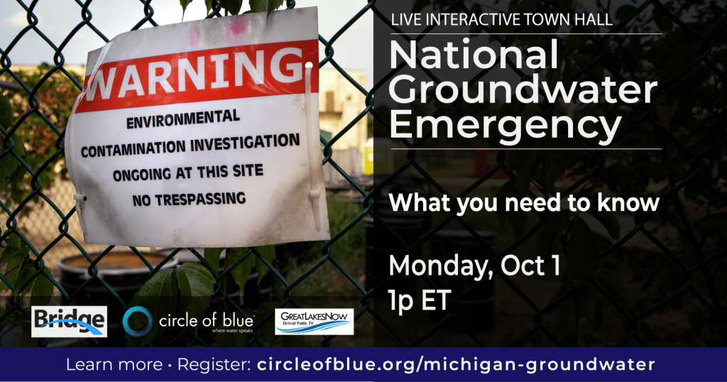 National Groundwater Emergency - Monday, Oct 1 1pm
