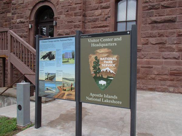 Apostle Islands National Lakeshore Visitor Center entrance. Photo by Sandra Svoboda